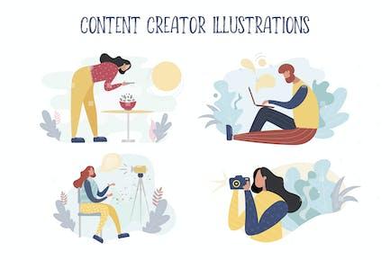 Illustrationen zum Erstellen von Inhalten