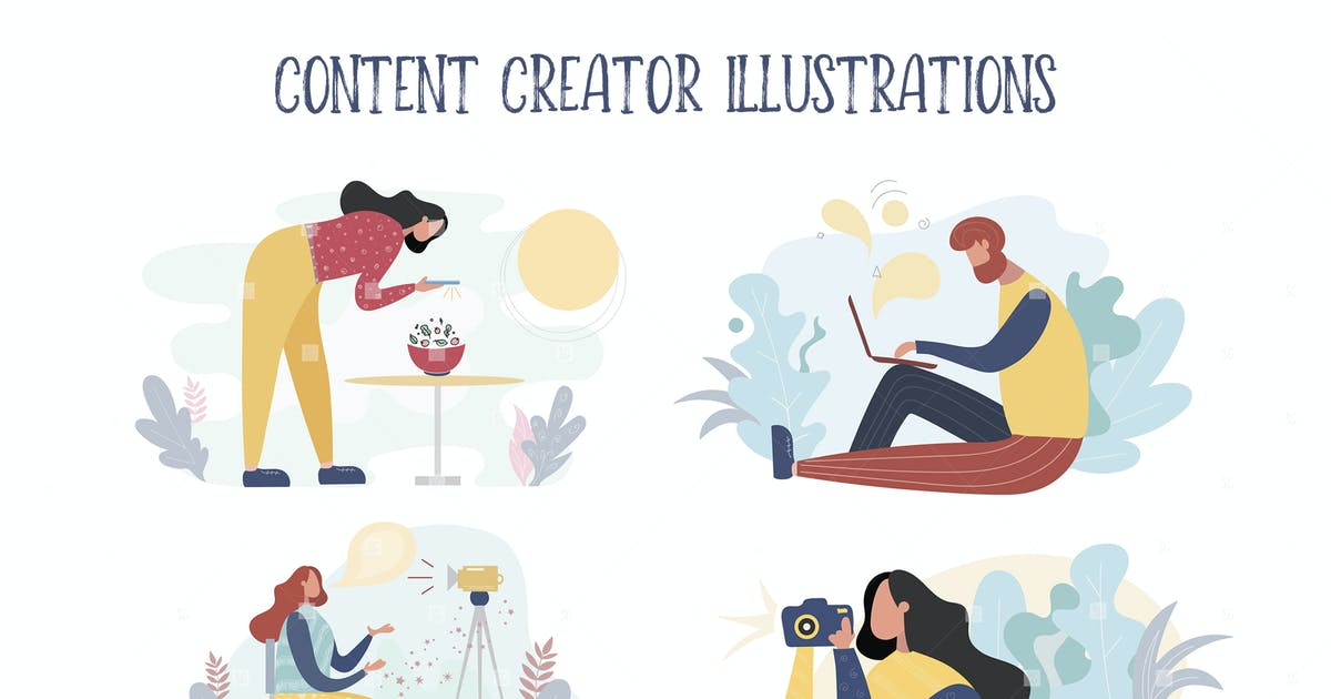 Download Content creator illustrations by switzergirl