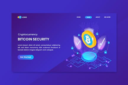Bitcoin Security Cryptocurrency Landing Page