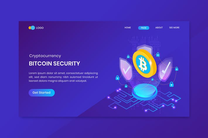 Cover Image For Bitcoin Security Cryptocurrency Landing Page