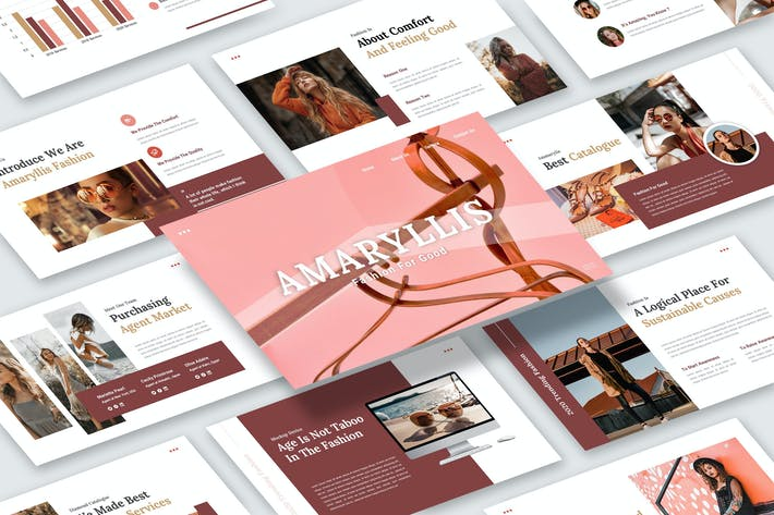 Thumbnail for Amaryllis – Fashion Business Keynote Template