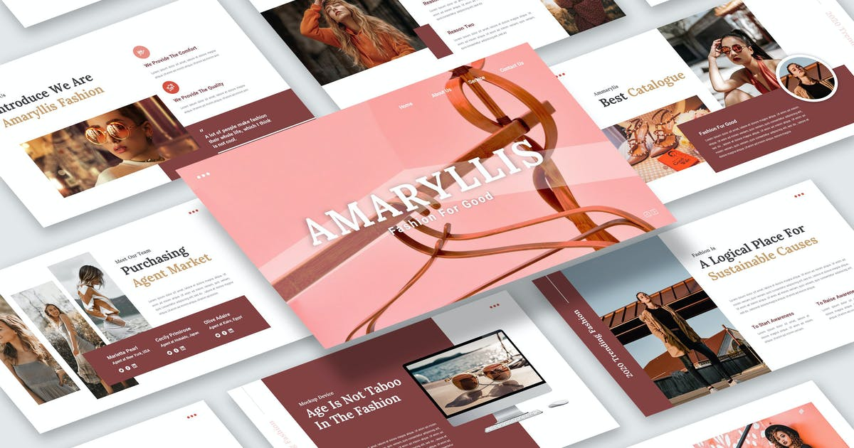 Download Amaryllis – Fashion Business Keynote Template by kerismaker