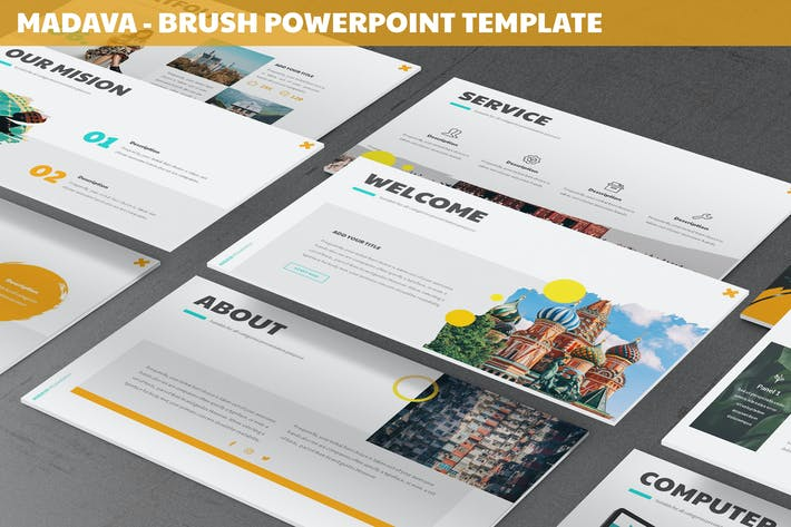 Thumbnail for Madava - Brush Powerpoint Template