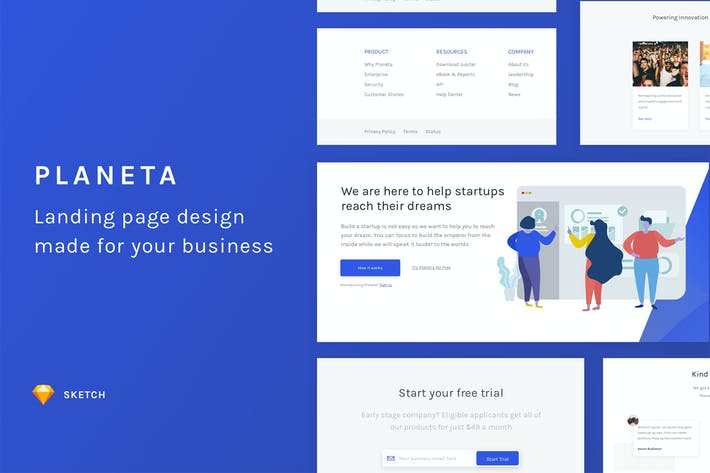 Planeta Website Template
