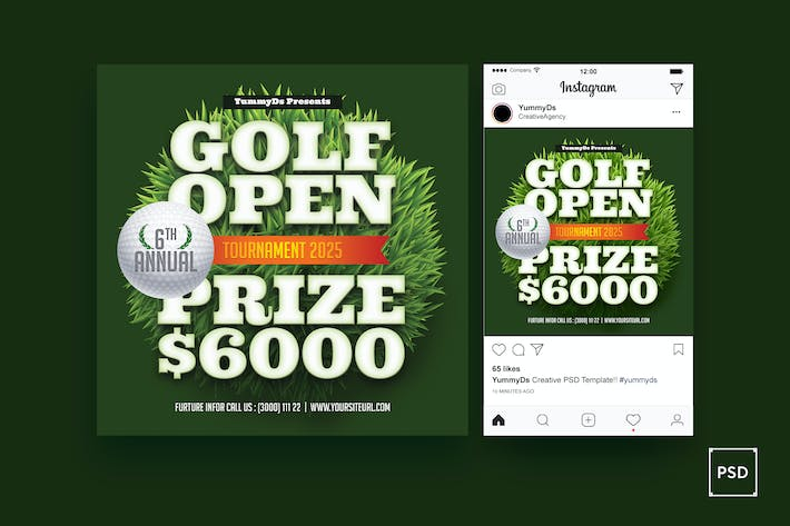 Thumbnail for Golf Open Square Flyer
