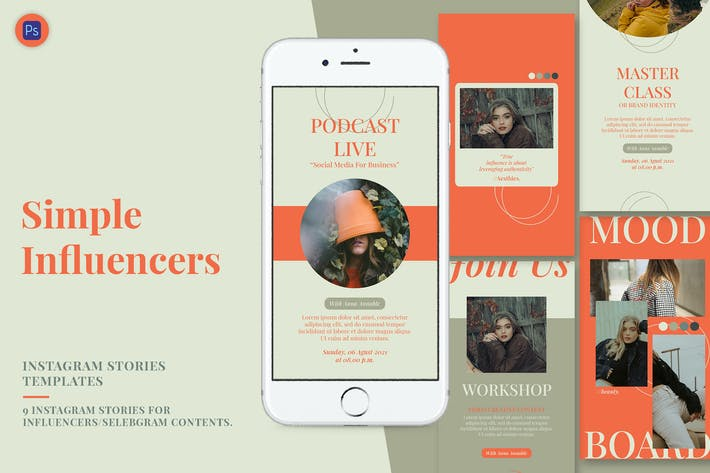 Thumbnail for Simple Influencer Instagram Stories Template