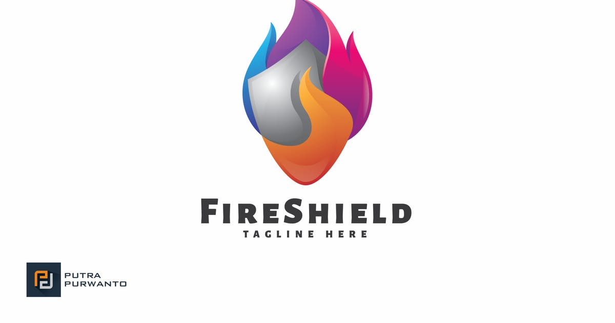 Fire Shield - Logo Template by putra_purwanto