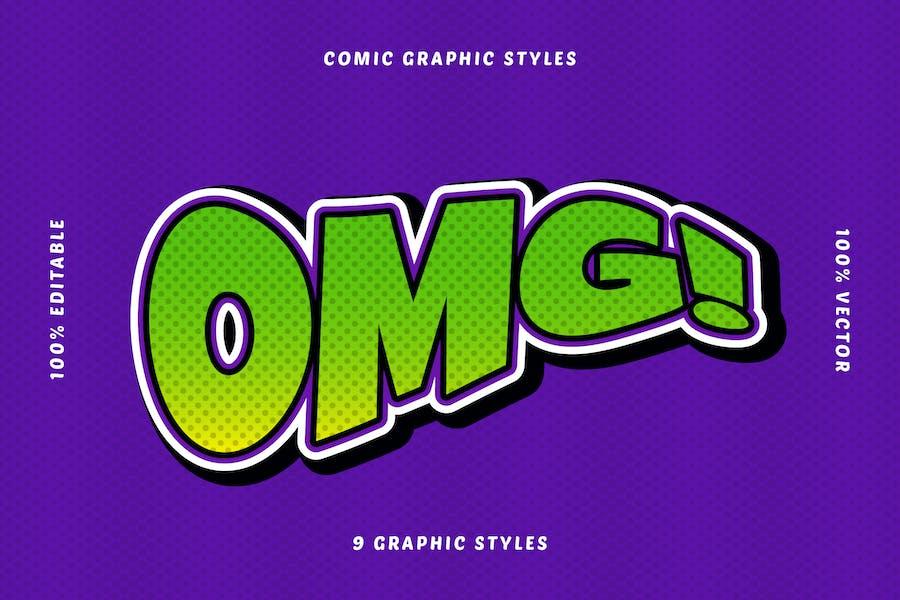 Comic Book Text Effects Set