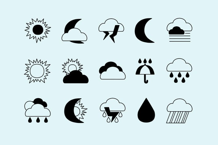 Thumbnail for Weather Contrast Icons