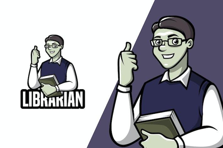 Thumbnail for Librarian - Mascot Logo Template