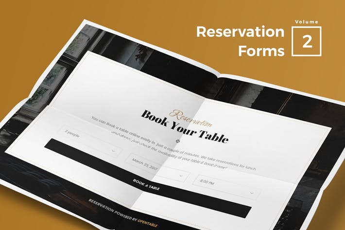 Thumbnail for Reservation Forms for Web Vol 02