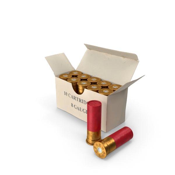 Caja de proyectiles de escopeta de calibre 8
