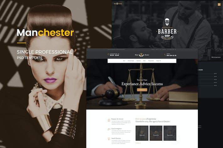 Thumbnail for Manchester: Einzelne professionelle PSD-Vorlage