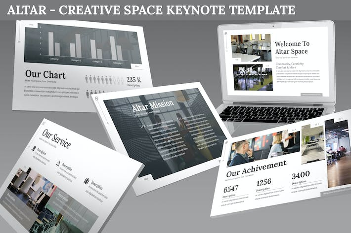 Thumbnail for Altar - Creative Space Keynote Template