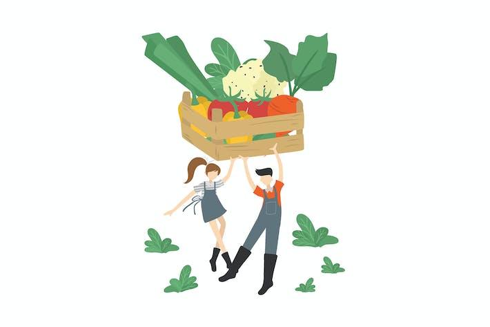 Vegetable Farming - Illustration AS