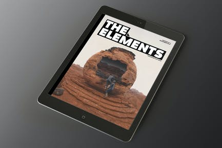The Elements Tablet Magazine Indesign Template