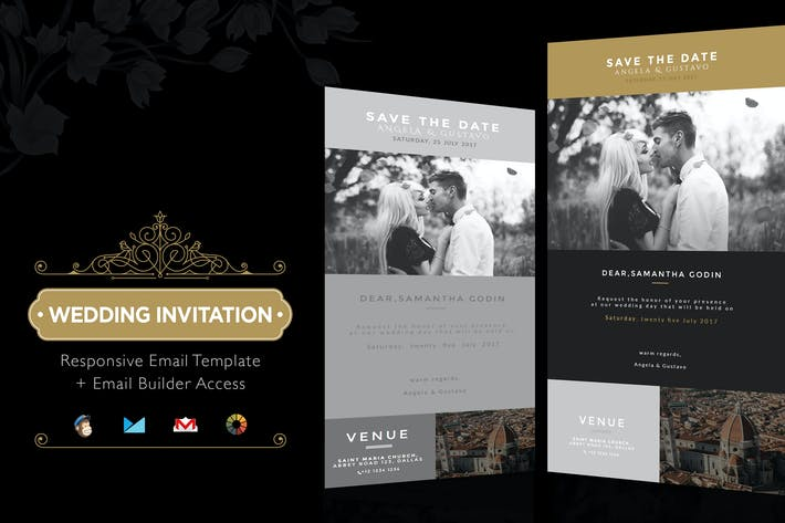 Thumbnail for Wedding Invitation Email Template + Builder Access