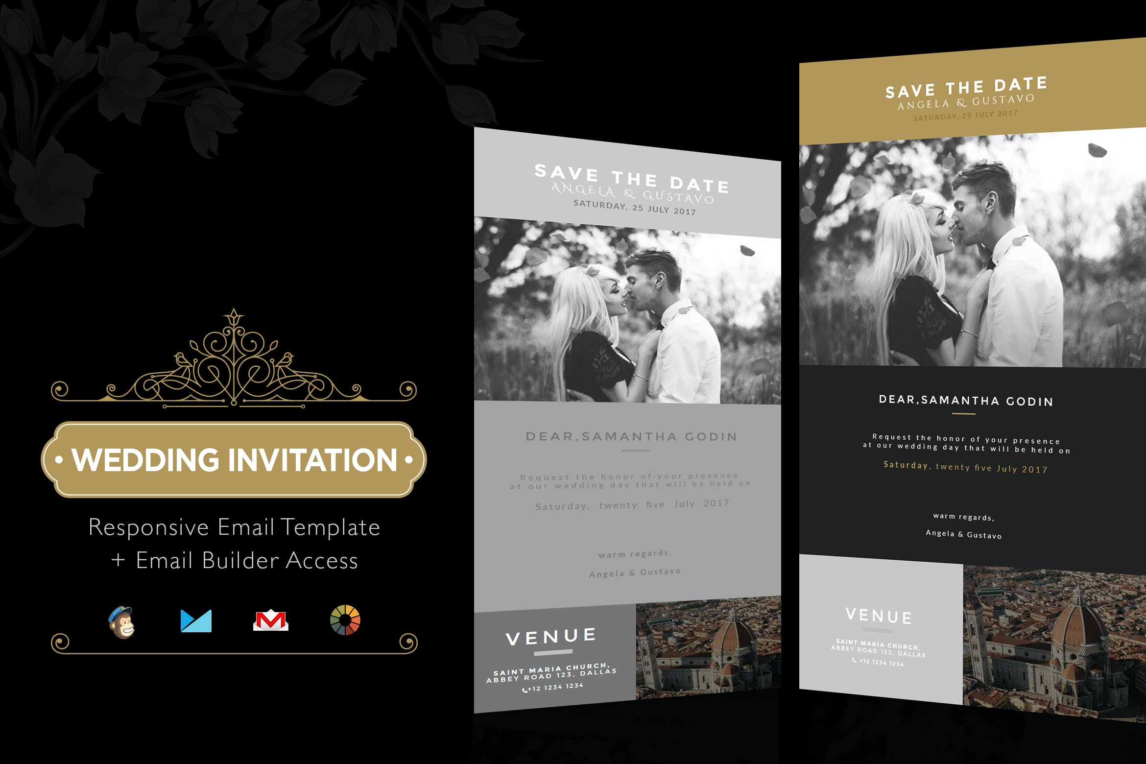 Wedding Invitation Email Template + Builder Access by theemon on ...