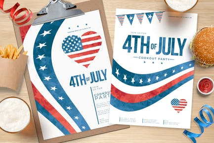 4th of July Flyer / Poster & Menu Templates