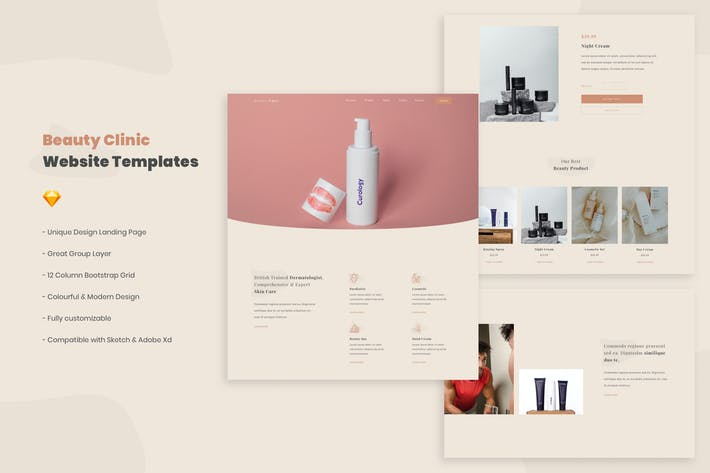 Thumbnail for Beauty Clinic Website Template
