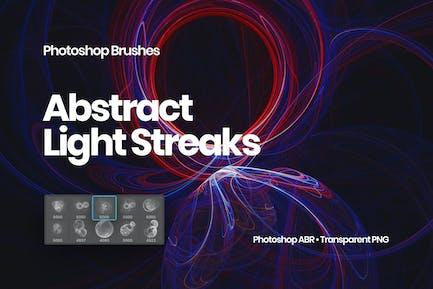 Light Streaks Photoshop Brushes