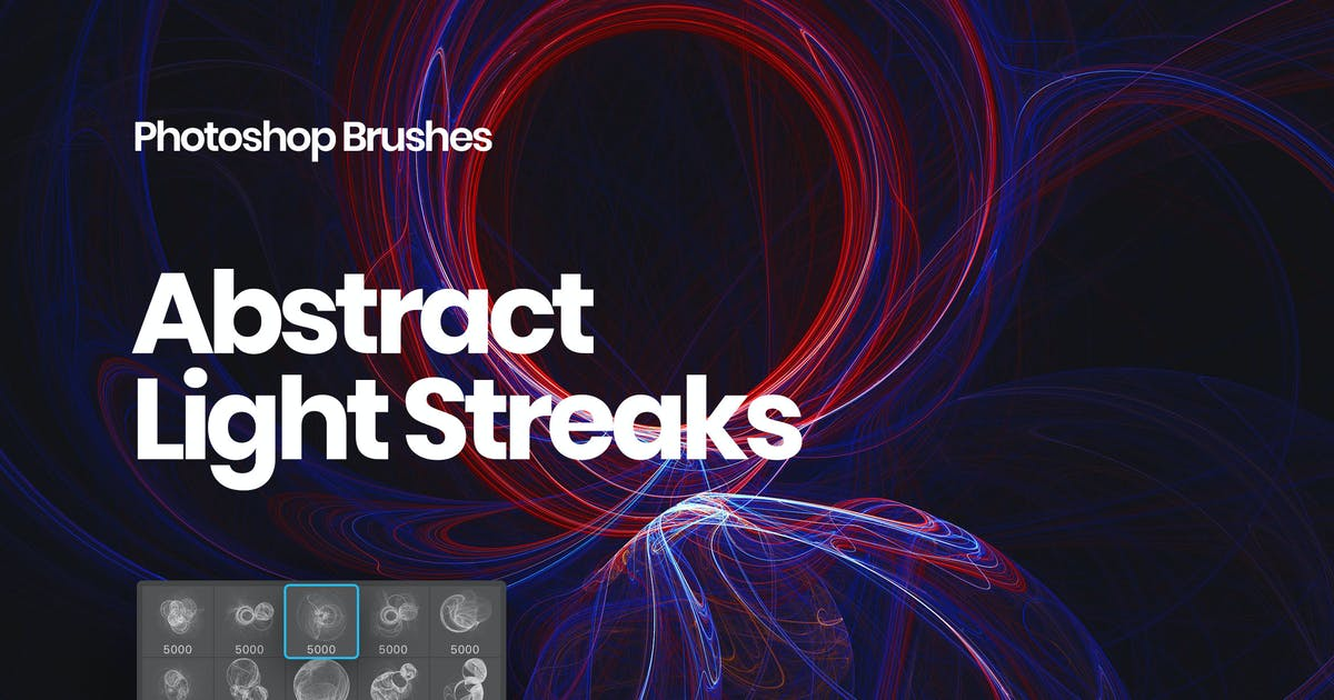 Download Light Streaks Photoshop Brushes by themefire