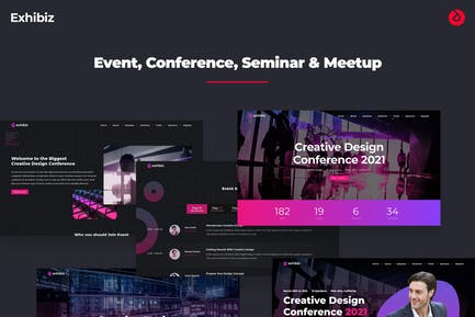 Exhibiz - Onepage Event, Conference, and Meetup