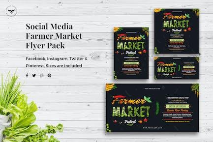 Social Media Templates Organic Market Pack