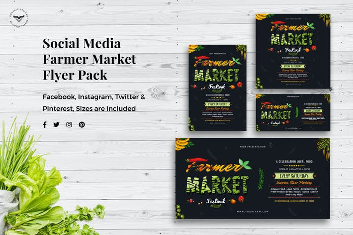 Thumbnail for Social Media Templates Organic Market Pack