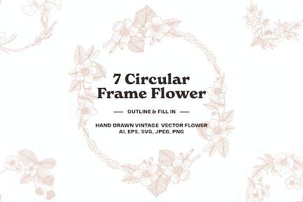 7 Circular Frame Flower