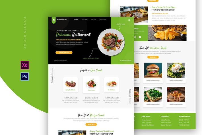 Thumbnail for Foodes Recette   Email Newsletter