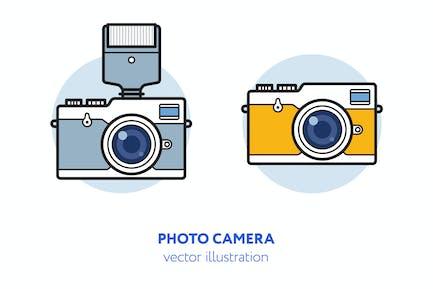 Ilustración Vector cámara fotográfica