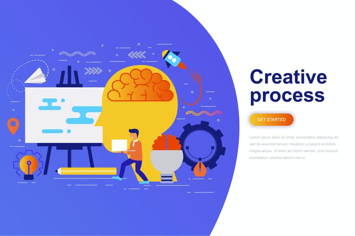 Thumbnail for Creative Process Modern Flat Concept