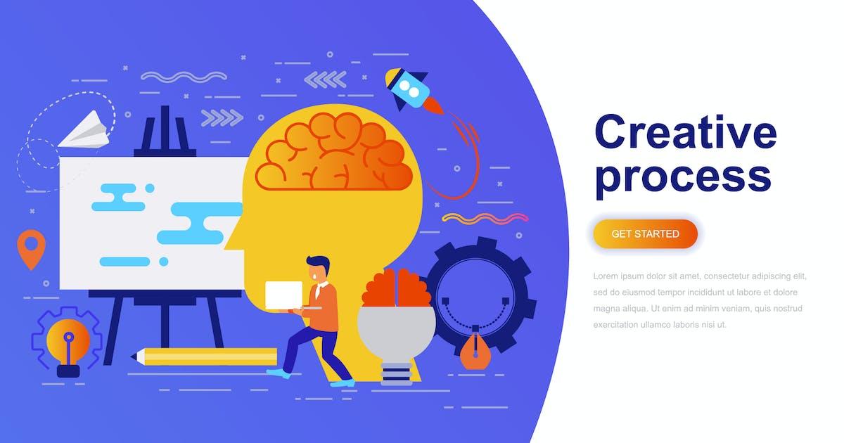 Download Creative Process Modern Flat Concept by alexdndz