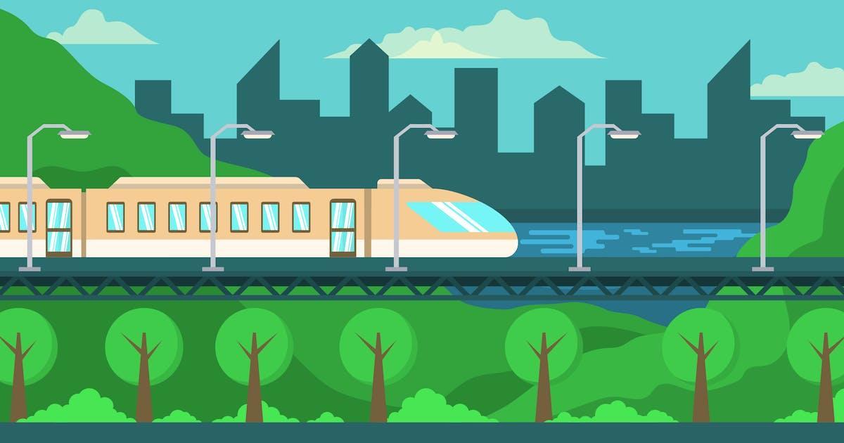 Download Maglev Train - Landscape Illustration by Graphiqa