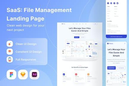 SaaS File Management Landing Page