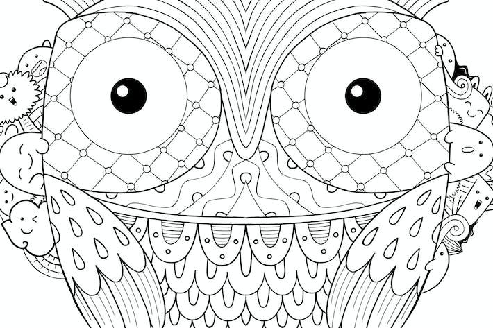 Thumbnail for Eule Vogel Doodle