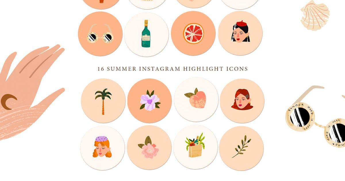 Download 16 Summer Instagram Story Highlight Icons by NassyArt