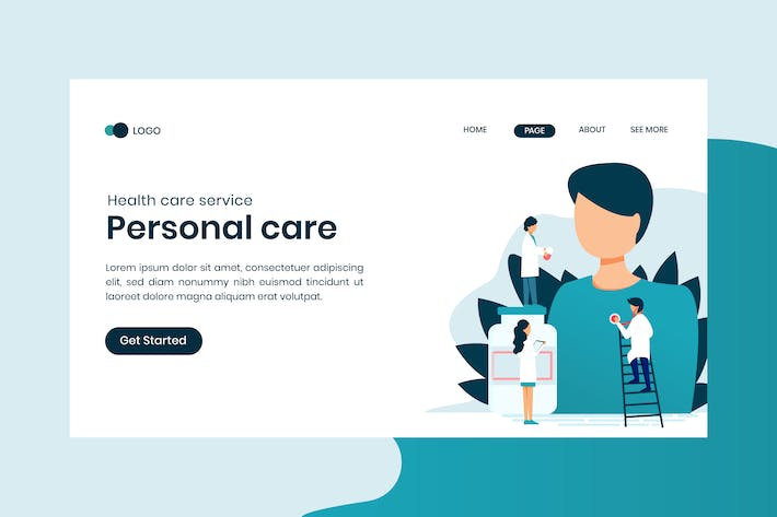 Thumbnail for Medical Service Personal Care Landing Page