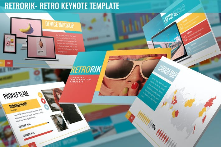 Thumbnail for Retrorik - Retro Keynote Template