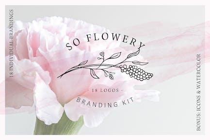 So Flowery Branding Kit + Watercolours