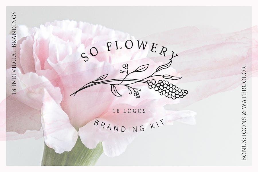 So Flowery Branding Kit + acuarelas