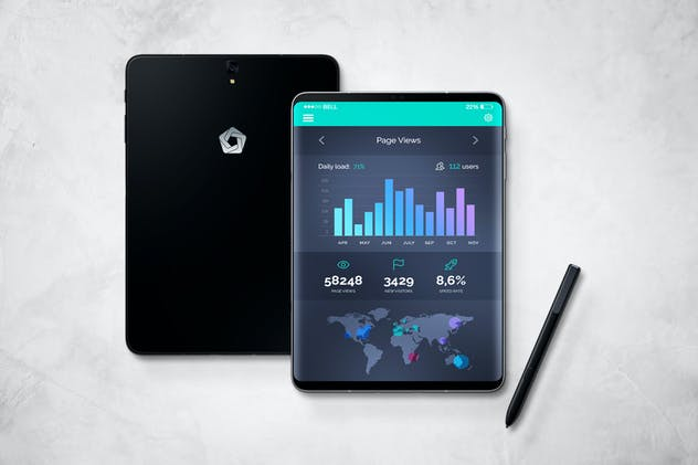 S9 Tablet Mockup - product preview 12
