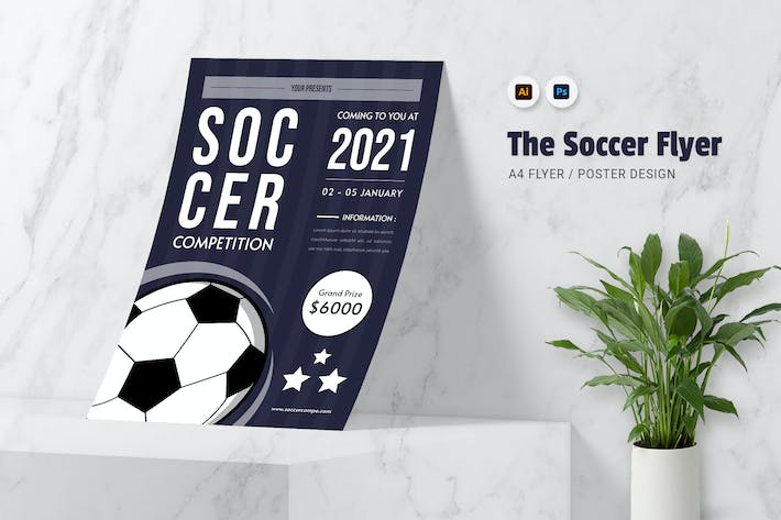 Thumbnail for Soccer Competition Flyer