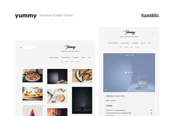 Thumbnail for Yummy | Creative Portfolio Tumblr Theme