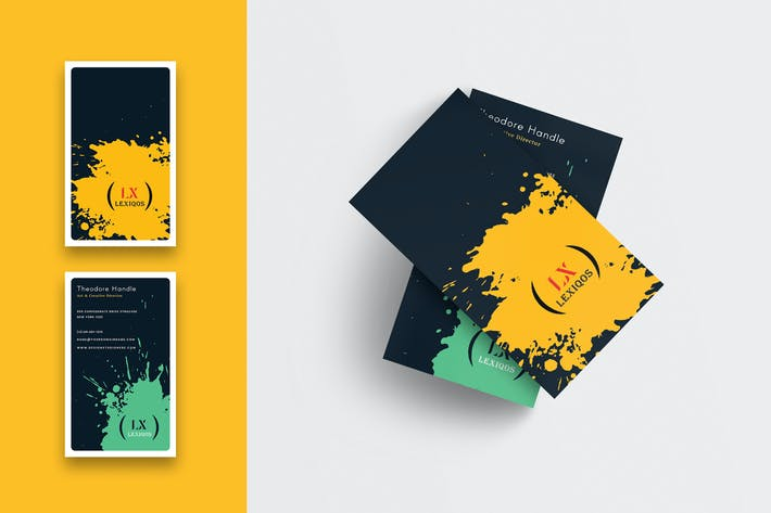 Thumbnail for Splatter Creative Business Card-Vertical