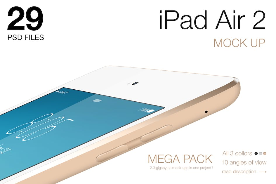 Download iPad Air 2 Mock-ups by Anthonyrich