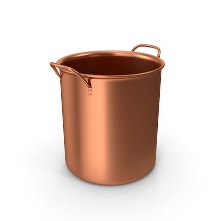 Maceta de bronce sin tapa
