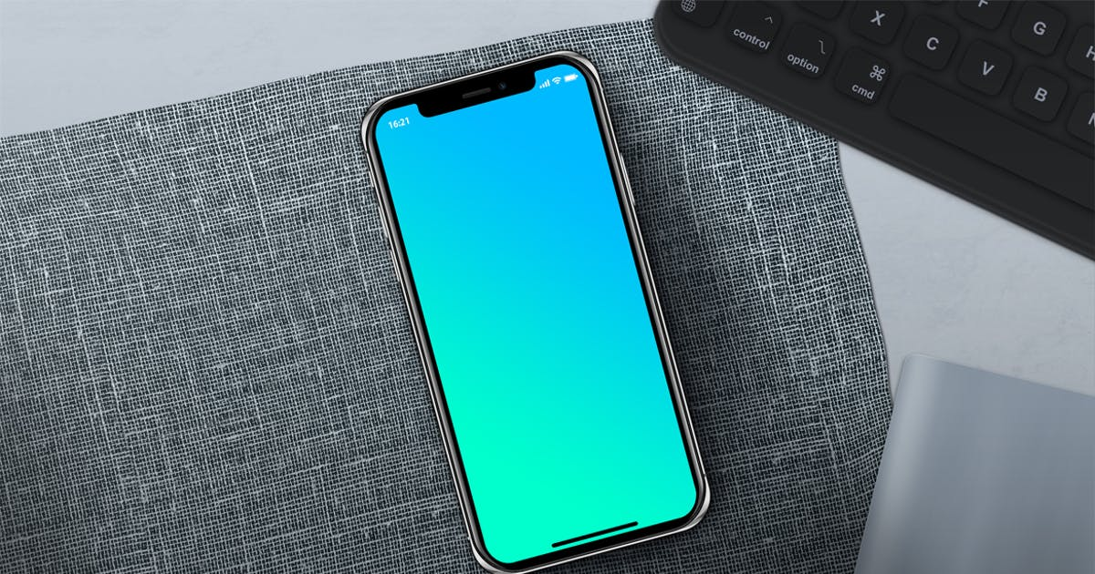 Download PhoneX Layered PSD Mock-Up with Background by Abdelrahman_El-masry