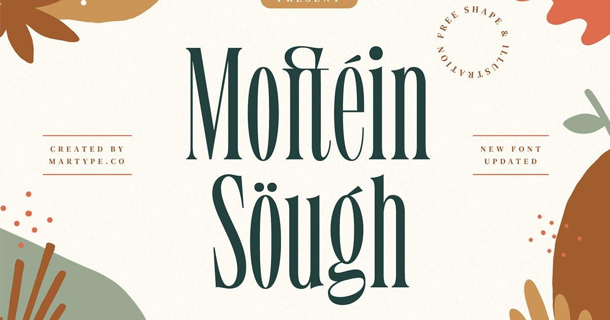 Download Moftein Sough - Display Font + Bonus by MartypeCo